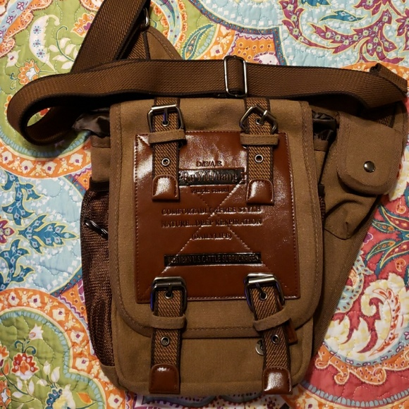 76251ba44669 Riders bag new Ru Yi Huang brown crossbody/riding